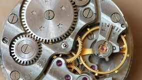 Uhrmechanismusmakro stock video