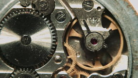 Uhrmechanismusmakro stock footage