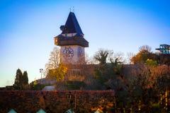 Uhrturm города Грац стоковые изображения