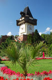 uhrturm de Graz Images libres de droits
