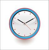 Uhrvektorillustrationen kreisen Zeit ein