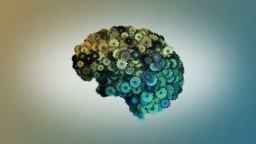Uhrwerk-Gehirn stock video