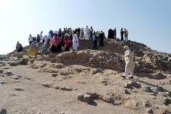 Uhud山是一个伊斯兰教的历史的历史地方 库存照片