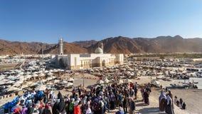Uhud山是一个伊斯兰教的历史的历史地方 库存图片
