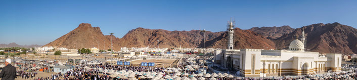 Uhud山是一个伊斯兰教的历史的历史地方 图库摄影