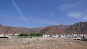 Uhud-Hügel gegen blaue Himmel - wo Kampf von Uhud während Prophet-Mohammed-pbuh Ära stattfand