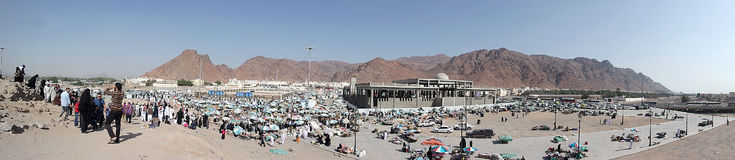 Uhud mountain is one of historical place in Islamic history. Royalty Free Stock Photos