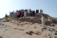 Uhud mountain is one of historical place in Islamic history. Stock Photos