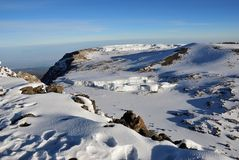 Mt Kilimanjaro, Tanzania. Uhuru peak, top of Kilimanjaro 5.895 m - highest mountain in Africa. Tanzania Stock Photography