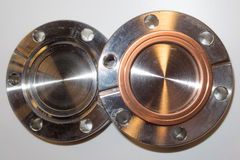 UHV CF flanges Stock Photos