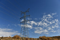 UHV transmission tower stock photography