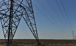 UHV transmission tower. Bluesky white could stock photo