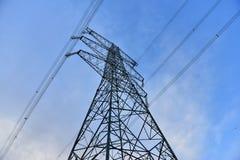 UHV transmission tower stock photo