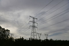 UHV transmission tower royalty free stock photography