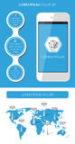 Ui、infographics和网元素 免版税库存照片