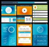 Ui平的网和流动元素 免版税图库摄影