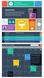 UI är fastställda delar som presenterar lägenhetdesignen Arkivfoton