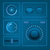 UI στοιχεία εξαρτήσεων διακοπτών απεικόνιση αποθεμάτων