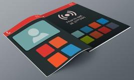 UI Design app Magazine Stock Images