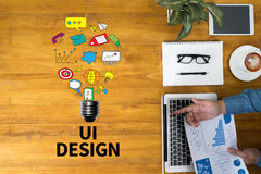 UI DESIGN Computer Network Homepage Html Graphic Web Royalty Free Stock Photos