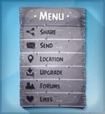 Ui Element And Data Icons On Stone Panel Stock Photo