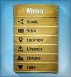 Ui Element And Data Icons On Wood Panel Royalty Free Stock Photo