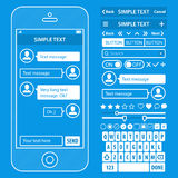 UI elements blueprint design vector kit in trendy Stock Photos