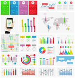 Ui, elements of infographics collection Royalty Free Stock Images