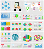 Ui, elements of infographics collection Stock Photo