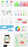 Ui, elements of infographics and user interface Stock Images