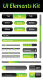 UI Elements Kit 1 (Green) Royalty Free Stock Photo