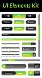 UI Elements Kit 1 (Green) Royalty Free Stock Photo