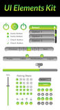 UI Elements Kit 2 (Green) Royalty Free Stock Photos