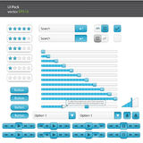 UI elements set and web user interface kit Stock Photography