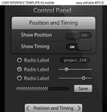 UI elements for Tablet PC or Smart phone Royalty Free Stock Photos