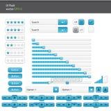 UI elementy ustawiający i internauta interfejsu zestaw Fotografia Stock