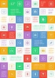 Ui en Webelementen met inbegrip van vlak ontwerp Royalty-vrije Stock Foto's