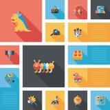 Επίπεδο υπόβαθρο ui παιχνιδιών παιδιών, eps10 Στοκ φωτογραφίες με δικαίωμα ελεύθερης χρήσης