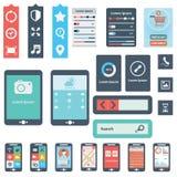 UI est un ensemble de beaux composants comportant la tendance plate EPS10 de conception illustration libre de droits