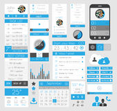 UI Flat Design Elements for Web, Infographics, Royalty Free Stock Image