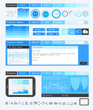 UI Flat Design Elements for Web, Infographics Stock Image