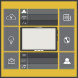 UI flat design with tablet computer Stock Image