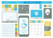 UI flat design web icon set Stock Photography