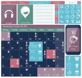UI flat design web icon set Royalty Free Stock Image