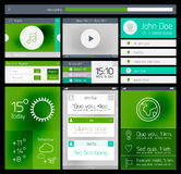 Ui flat web and mobile element Royalty Free Stock Photos