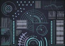 UI HUD Infographic Elementfadenkreuzschnittstelle Futuristische Benutzerschnittstelle Abstrakter Hintergrund des Geschäfts Stockbilder
