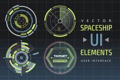 UI hud infographic interface web elements vector illustration