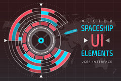 UI hud infographic interface web elements Stock Images