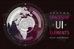 UI hud infographic interface web elements Stock Photography