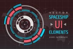 UI hud infographic interface web elements Stock Photo